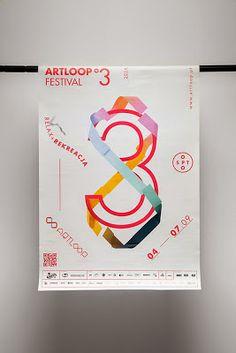 Interesantísimo el trabajo de identidad corporativa perteneciente al Artloop Festival 2014. Los encargados de hacer este interesante trabajo son Uniforma Studio.