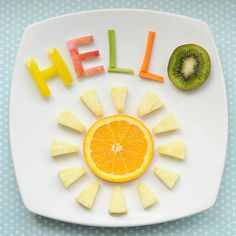 cute snack idea: hello sunshine!