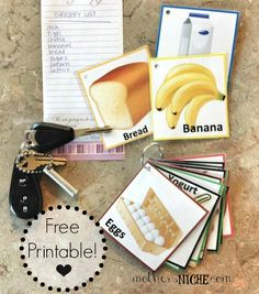 Use this fun & easy activity to make grocery shopping fun for the kids and easy on mom! {free printable}