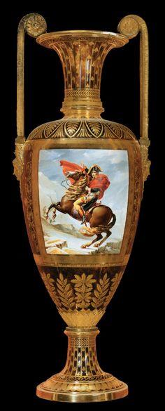 """French Sevres  """"Fuseau"""" Vase of Madame Mère  1811  Hard-paste porcelain, height 107 cm  Musée du Louvre, Paris"""