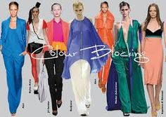 Image result for colour blocking style