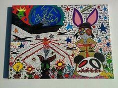 Life's puzzle pieces 11x14 Canvas Acrylic Ink Marker by LunasNook