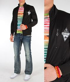 'Hues Line Is It Anyway' #buckle #fashion www.buckle.com. #trackjacket