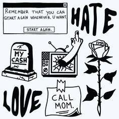 Black Tattoos, Cool Tattoos, Game Of Thrones Tattoo, Graffiti Doodles, Hippie Painting, Tattoo Flash Art, Diy Tattoo, I Love Mom, Matching Tattoos
