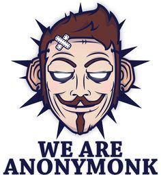 Anony' Monk by Mnk Crew , via Behance