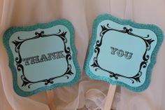"""The reverse side of our Tiffany Mr and Mrs paddles...""""Thank You""""...by Lily and Lace"""