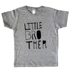 Little Brother Shirt  Boys Top  Sketchy Little Bro Kids