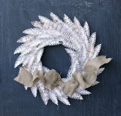 jbs inspiration: vintage feather wreath