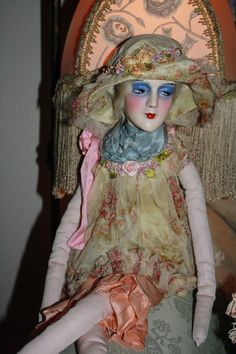 Wonderful Vampy Original Anita Boudoir Doll from ribbonsantiques on Ruby Lane