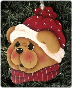 *HP-TEDDY-BEAR-Face-ORNAMENT