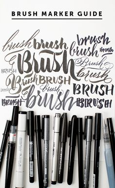 brush marker guide #artjournal
