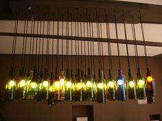 lustres de garrafas de vidro - Pesquisa Google