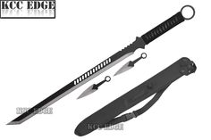 "NEW 27"" Full Tang Tanto Blade Ninja Sword Machete Throwing Knife Tactical Katana"