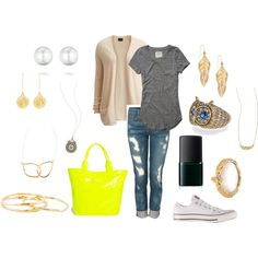 """Saturday Errands"" by jilljones222 on Polyvore   Jewelry can be found:  chloeandisabel.com/boutique/jilljones"