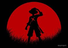 One Piece Luffy Silhouette