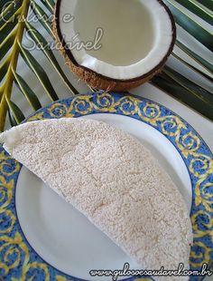 #BomDia! O domingo é um dia perfeito para saborear uma deliciosa Tapioca de Coco, é super nutritiva, fácil e rápida de fazer.  #Receita aqui: http://www.gulosoesaudavel.com.br/2011/06/27/tapioca-de-coco/