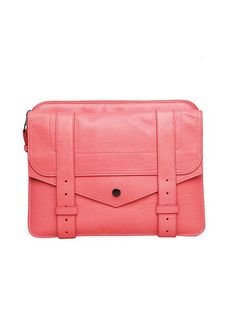Proenza Schouler PS1 Ipad Case, Neon Coral. Details on http://fashiontechsavvy.com/