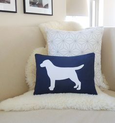 Labrador Retriever Pillow Cover Lab Dog Silhouette by VixenGoods, $49.00