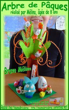 Arbre de Pâques réalisé par Mélina, âgée de 8 ans