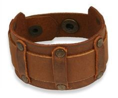 men's leather gothic cuff