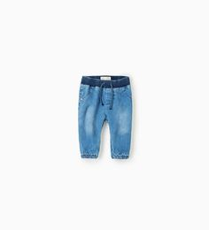 Image 1 of Jeans with ribbed waist from Zara