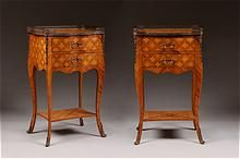 Pr. of Louis XV Style Two Drawer Commodes, Shop Rubylane.com