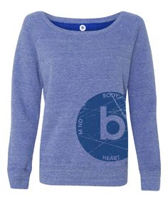 Look at this Blue Wide-Neck Sweatshirt - Women on #zulily today!