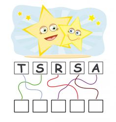 Get your child or students started with spelling activities like find the word. The Star find the word activity sheet provides a Nursery Worksheets, 1st Grade Worksheets, Funny Games For Kids, Funny Kids, First Grade Homework, English Worksheets For Kids, Spelling Activities, H&m Kids, Pre Writing