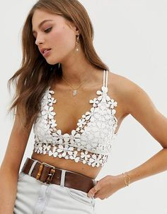 Buy Free People Miss Dazie bralette at ASOS. With free delivery and return options (Ts&Cs apply), online shopping has never been so easy. Get the latest trends with ASOS now. Cute Lingerie, Lingerie Outfits, Sheer Lingerie, Lingerie Dress, Luxury Lingerie, Asos, Best Online Shopping Sites, Summertime Outfits, Jacquemus