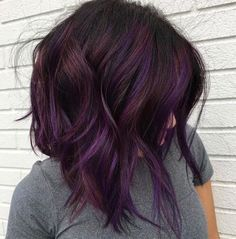 Dk Brown Purple Burgundy. when i see all these fall hair colors for brown blonde balayage carmel hairstyles it always makes me jealous i wish i could do something like that I absolutely love this fall hair color for brown blonde balayage carmel hair style so pretty! Perfect for fall!!!!!