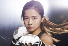 """Mixed Martial Arts fighter Song Ga Yeon has made a splash with her beauty and her role on SBS's Roommate. She has now announced that she will be taking on hosting as the MC of MMA survival show """"Crying Fist. Female Martial Artists, Martial Arts Women, Mixed Martial Arts, Karate, Sport Model, Mma Workout, Ju Jitsu, Ufc Fighters, Boxing Girl"""
