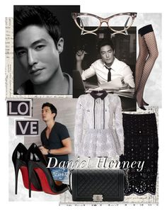"""""""OB•SES•SION : Daniel Henney"""" by dinakikay ❤ liked on Polyvore featuring Marc Jacobs, self-portrait, Christian Louboutin, Chantal Thomass, Chanel and Givenchy"""