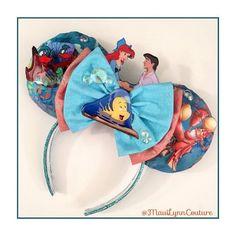 The Little Mermaid/Kiss The Girl Inspired Minnie Mouse Disney Ears Source Etsy #TheLittleMermaid #Ariel #Mermaid #KissTheGirl #Disney #Disneyland #DisneyWorld #WDW #Custom #Handmade #DIY #DiyMouseEars #MouseEars #WeGotEars #DisneyEars #DisneyHeadband #MinnieEars #MinnieMouseEars #MinnieMouse #MickeyMouse #MickeyEars #MickeyMouseEars