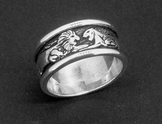 Lions Ring in Sterling Silver by mckenziejewelers on Etsy, $95.00
