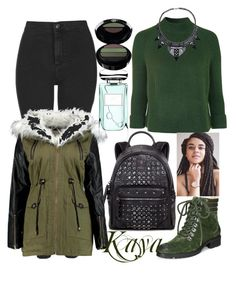 """""""Kaya."""" by ella1122ghost on Polyvore featuring Topshop, Corso Como, MCM, Giorgio Armani, By Terry, women's clothing, women's fashion, women, female and woman"""
