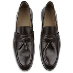 Hugo Boss Serston Leather Tassel Loafer ($355) ❤ liked on Polyvore