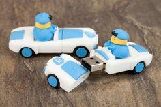 Cute Custom USB Cars - love them! Sooo much better than standard printed USB sticks. #Custom #USB