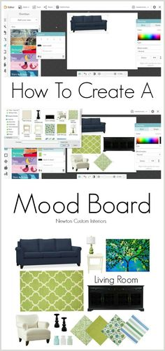 To Create A Mood Board Learn how to create a mood board for your space to avoid costly mistakes when you are designing a new look for your room. Learn how to create a mood board for your space to avoid costly mistakes when you are designing a new look for Web Design, Game Design, Website Design, House Design, Design Ideas, Interior Design Boards, Interior Design Business, Moodboard Interior Design, Interior Doors