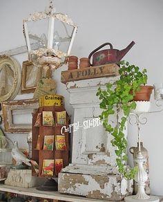 #rusty, #chippy, #garden shabby junk
