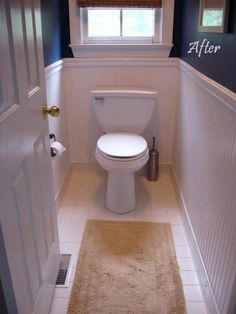 Install beadboard wallpaper along the walls of your small toilet room to make it more pleasant to sit there. 31 DIY Projects That Will Make Your House Look Amazing Paintable Wallpaper, Bathroom Wallpaper, Bathroom Beadboard, Faux Wainscoting, Wainscoting Ideas, White Beadboard, Small Toilet Room, Small Bathroom, Bathroom Ideas