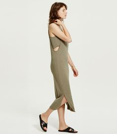 Primary Image of Lou & Grey Signaturesoft Cutaway Midi Dress