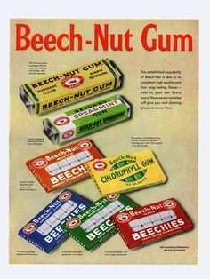 Candy Ad -Beech-Nut Gum - July 9 1953