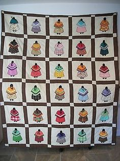 """Vintage Native American """"Indian Doll Quilt"""""""
