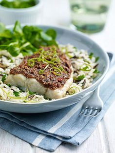 Fillet-of-Coley-with-Almond-Lime-and-Chilli-Crust-with-fork