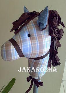 Cavalo de pau de tecido com molde - Dá pra usar na Entrada Triunfal de Jesus e muitas outras histórias