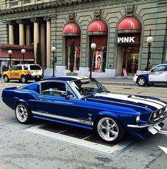 1967 Ford Mustang  Royal Blue & White G.T. 350 Fastback.