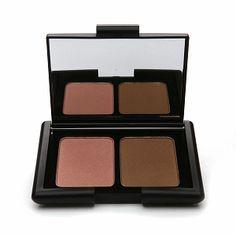Buy this, not that: e.l.f. Studio Contouring Blush and Bronzing Powder vs. NARS Highlighting/Bronzing Duo in Orgasm/Laguna.
