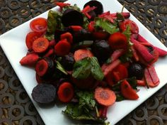 Yvonne's Beetroot, carrot, cucumber and tomato salad Tomato Salad, Caprese Salad, Beetroot, Superfoods, Cucumber, Carrots, Competition, Salads, Summer