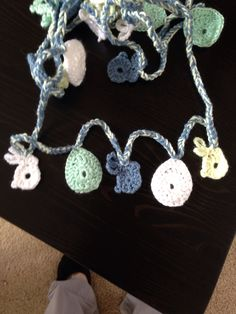 #easter garland #crocheted bunnies and eggs