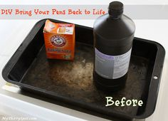 DIY Remove Baked on Gunk From Pots and Pans